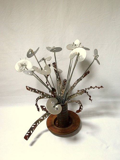 yannyann sculpture bouquet en fer