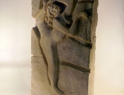 yannyann sculpture en bas relief danseuse
